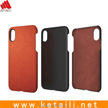 2017 new design plastic +leather hybrid mobile case for iphone 8