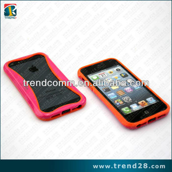 new product fluorescent tpu&pc bumper for iphone5