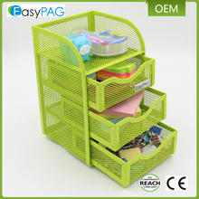 EasyPAG mesh table desk organizer 3 drawer mini hutch office supply caddy