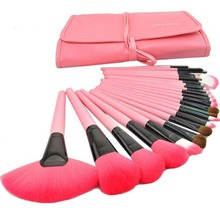 24 Pcs Makeup Brushes Cosmetic Tool Kits Eyeshadow Powder Brush Set Case