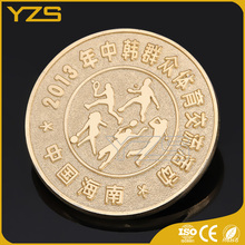 Custom design 3d pure gold coin animal shape