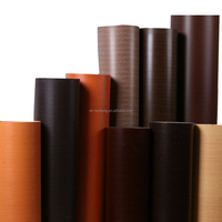 wood finished pvc film rolls for gurniture