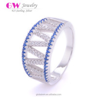 Fine 925 Sterling Silver Jewelry CZ Engagement Rings For Women