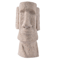 Factory direct sandstone Statues of Easter Island for home office home decoration novelty house Resin craft 12103
