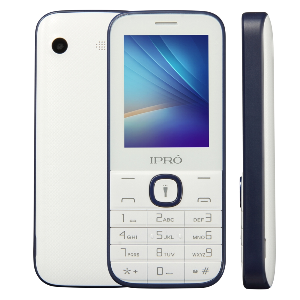 Factory made IPRO I324F 2.4 inch feature phones 2g Unlocked Original Mobile 1000 mAh Torch for Lationamerica
