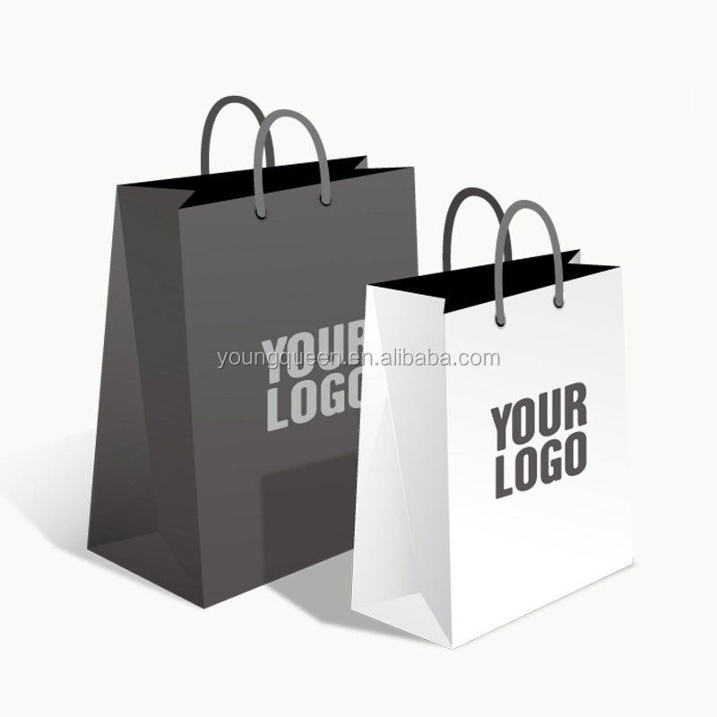 ZW404 clothing shopping bags custom kraft paper bags with handle