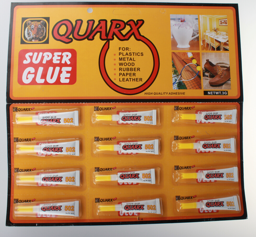 QUARX Rubber SUPER GLUE 502 cyanoacrylate adheisve capacity
