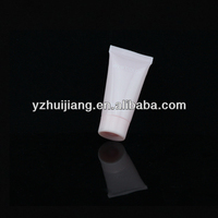 eve color empty clear plastic pe soft packing cosmetic trial size pink tube with colored screw cap