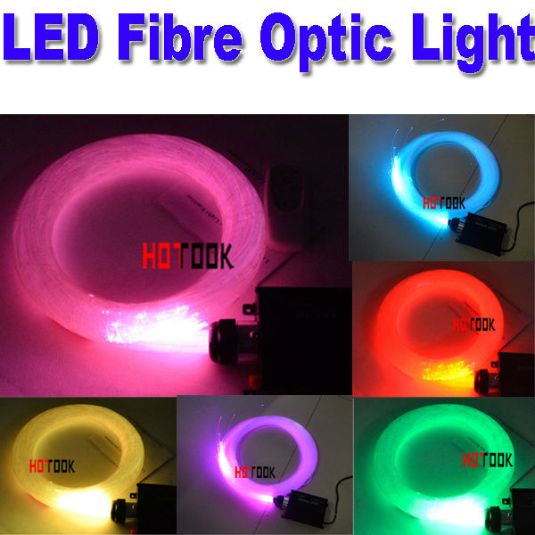 Multi-colored 2m LED Fiber Optic Light Lighting Engine 45 Watt Lights 1mm 200pcs fibers