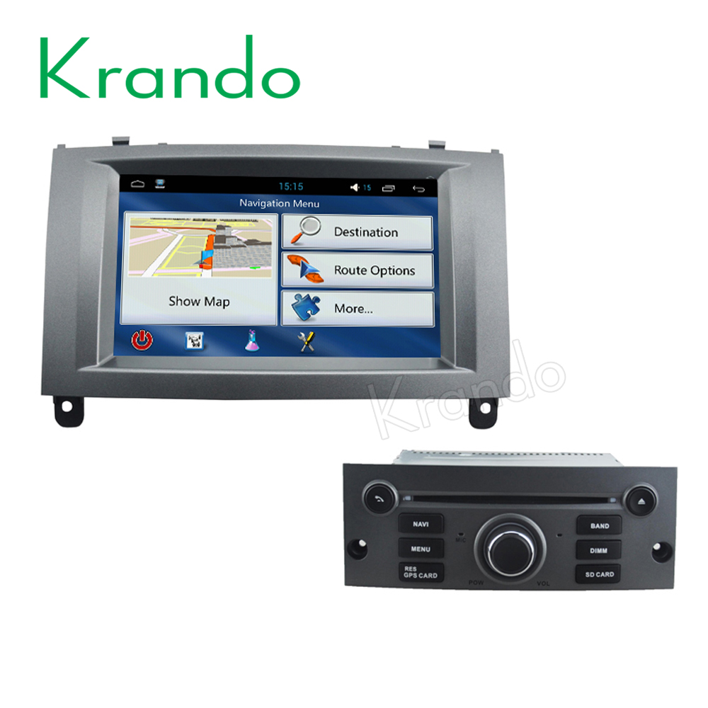 Krando Android 7.1 car dvd gps radio multimedia for peugeot 407 2004-2010 navigation system KD-PG407