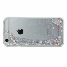 Dynamic Liquid Cell Phone Cases Bling Crystal Back Cover with Glitter Stars