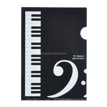 office supplies A4 paper pp plastic black and white color piano keys single pocket file folder