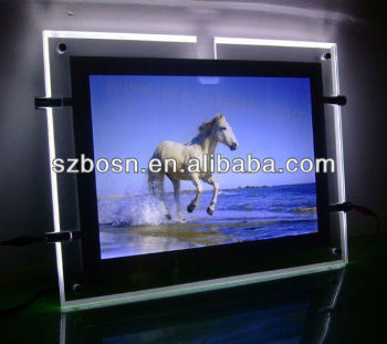 Acrylic photo display for home decoration;LED picture display for artist;