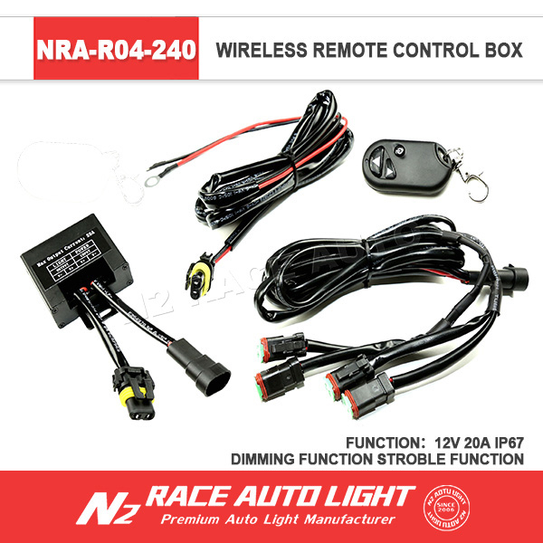 Wireless led off road light remote strobe control truck