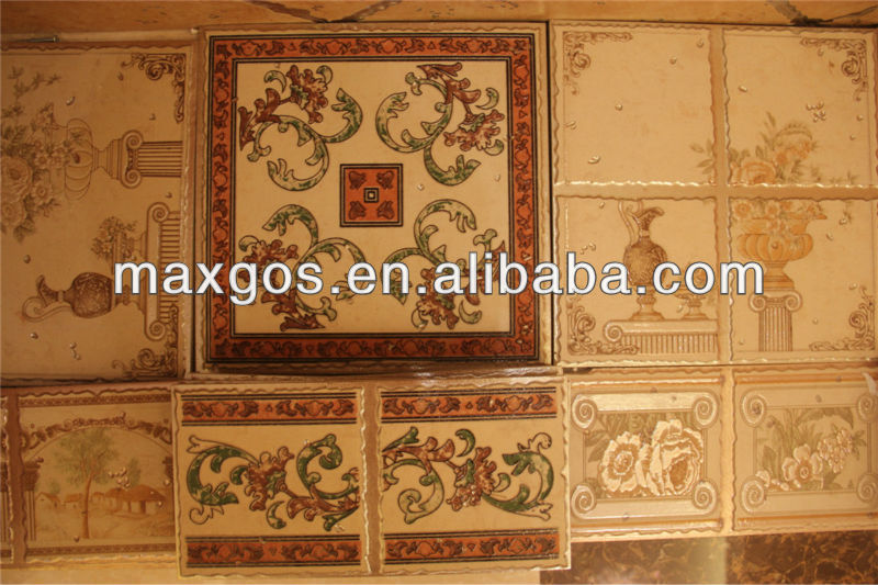 300*300mm metal wall tiles with borders