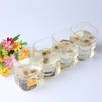 200ml alibaba new product hand made reusable square shape drinking glass pitcher cups set for hotel home wedding party