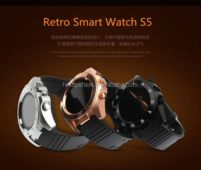 Smart Watch 2017 New Design S5 Bluetooth Smartwatch Wristwatch with Round Screen, Mobile Watch Phones With Bluetooth