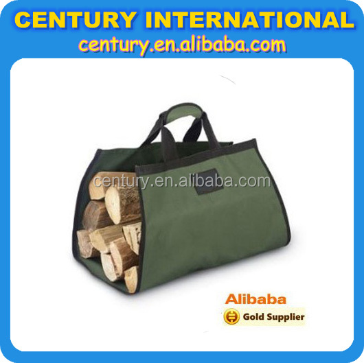 Polyester Firewood carry bag, Carry bag for wood in polyester or cotton