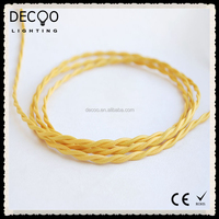 Choose Your Colour &Length Fabric Electrical Extension Electric Color Cord