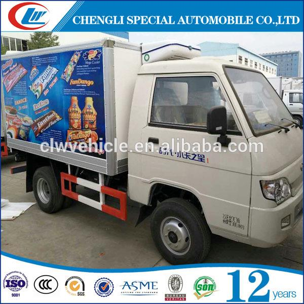 New design refrigerated insulated cargo trailer frozen sea food refrigerated truck with great price