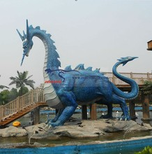 outdoor theme park life size dragon statues