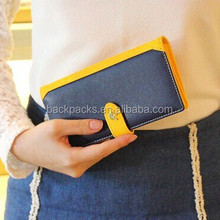 New Fashion Candy Color Women Wallet Long Design Panelled Multifunctional Lady Purse High Quality PU Leather Girl Change Bags