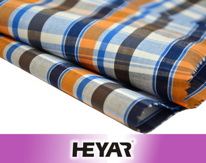 China Suppliers CVC Yarn Dyed Plaid Shirting Fabric For Garments