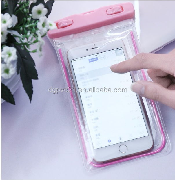 PVC IPX8 waterproof mobile phone case bag for iphone