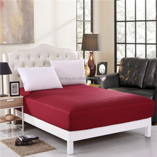 Cheap Price 100% Polyester Rose Red Bedspread Fitted Sheet Bed Flat