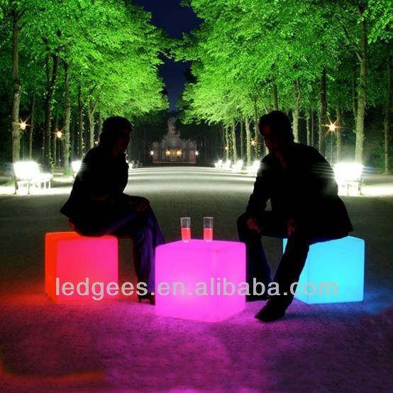 Led Cube Chair,Glow Cube/ RGB Led cube lights with rechargable battery