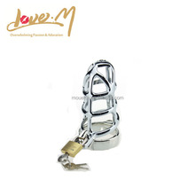 Sexy chastity male toy chastity cock cage in stainless steel