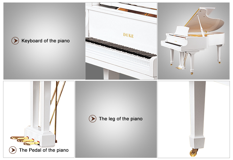 88 keys roll up white baby grand piano 158M1(D-L)