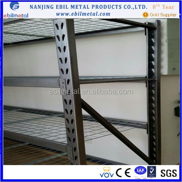 industrial racking and shelving with welded frame