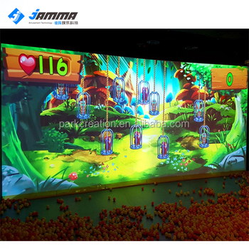 Hot sale interactive wall game system popular touch interactive projection for kids