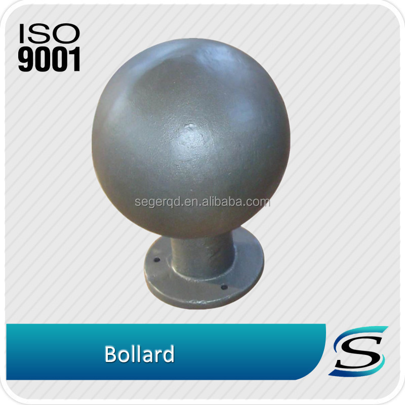 Outdoor painted casting round bollards