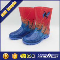 transparent rain pvc boot for children,children rain boots in pvc