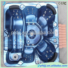Outdoor 6 people acrylic whirlpool free standing balboa bathtub hot tubs spas bath tub with sex massage