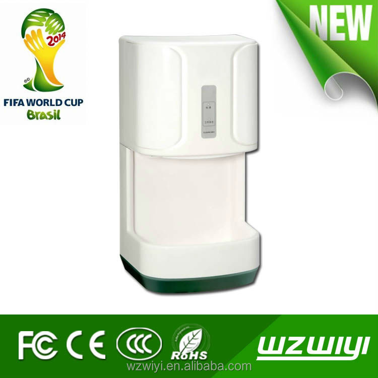 Wiyi High speed, die-cast aluminum cover,polished chrome ,hot air switch, anion generator,automatic hand dryer, CE/ROHS