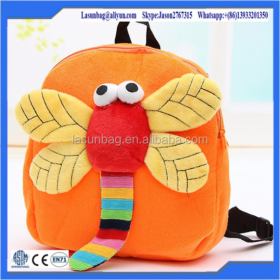 Factory Direct Selling 3d Beetle Series Baby Kids Backpack Plush Toys Bags Cheap Price Good Quality