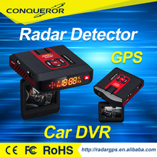 2.4 inch New design Full HD Car Dvr Camera/GPS locator/radar detector with cheap price