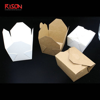 Custom design printed disposable kraft paper lunch food box