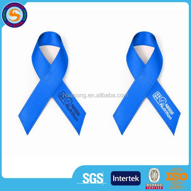 China wholesale custom Aids bow, satin Aids ribbon, satin ribbon bow