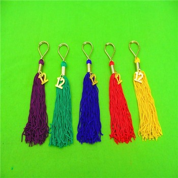 Custom Tassel Fancy Gold Cord Tassel Long Graduation Tassels For Graduate Cap Hat