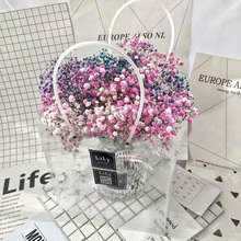 Custom design luxury plastic PVC flower bags clear pvc bag in EECA China supplier