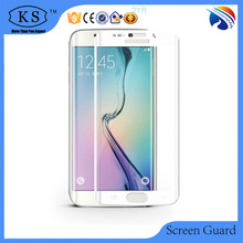 cell phone color 9H 0.26mm 3D curved full screen tempered screen protector cover for samung s6 edge