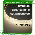 Ultra bright white color 120leds/m 2835 SMD 24v flexible waterproof led strip lighting