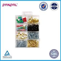 BSCI approved china factory assorted 300pcs push pin paper clip common nail