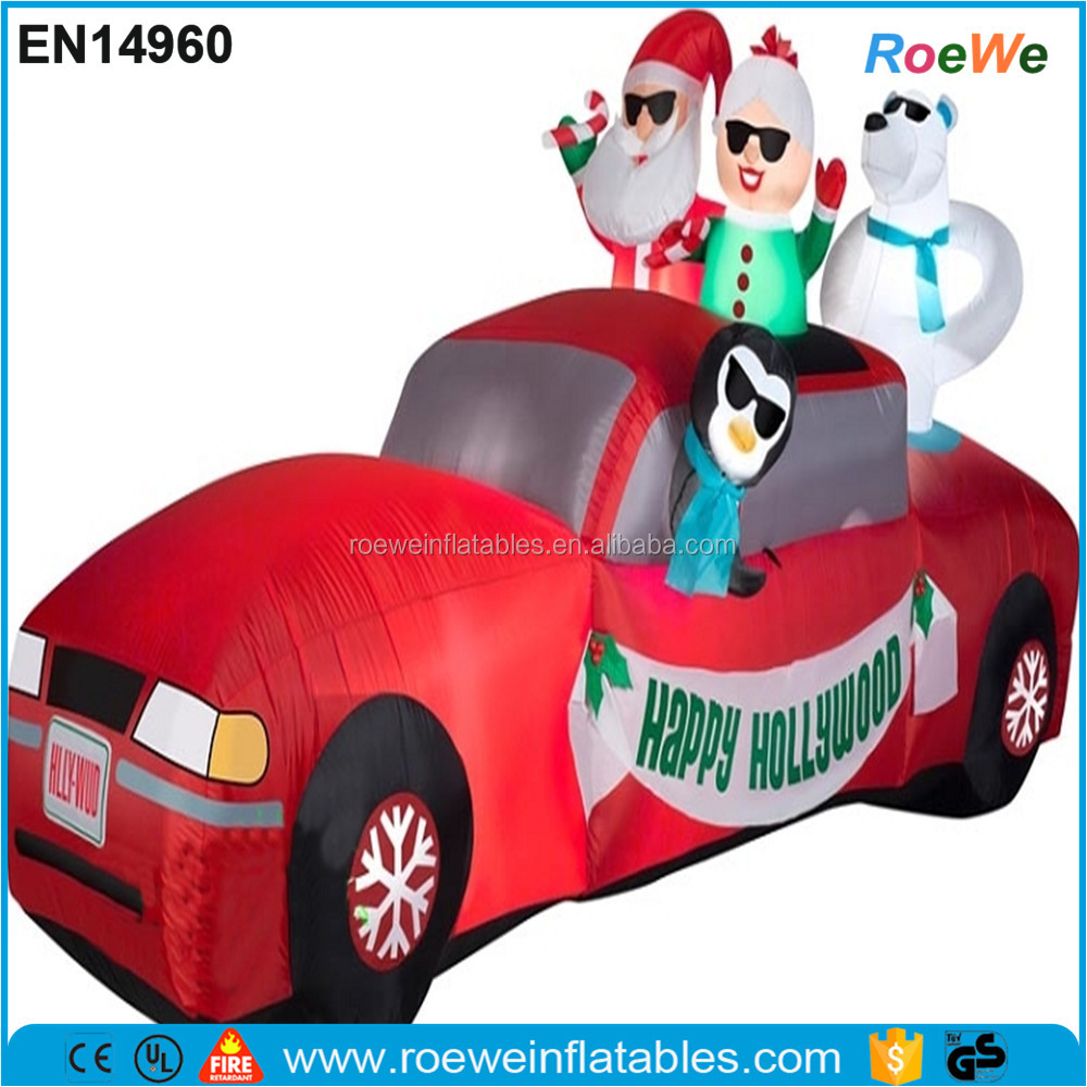 Santa Mrs Claus Limo Gemmy Airblown Inflatable