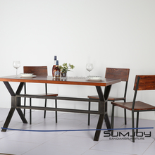 Customize Solid Wood Furniture Pine Wood Table and Chair Wholesale