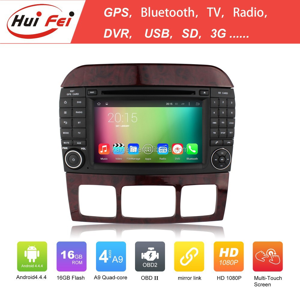 RK3188 Quad-core 16GB Car Video For Benz S Class W220 1998-2005 Support 3G WIFI OBD Bluetooth Gps